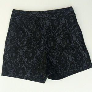 NWOT Express Denim And Lace High Waist Shorts